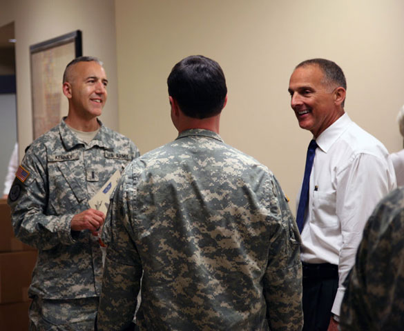 Howell Meets With Military